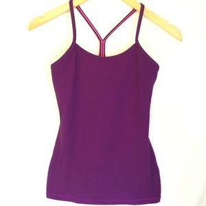 Lululemon Power Y Tank Top Purple Striped 4